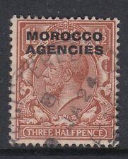 Morocco Agencies 1921 George V 1½d stamp - red-brown SG44 - good used