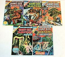 5 lot GIANT-SIZE MAN-THING Marvel Comics COMPLETE RUN #1-5, 1 2 3 4 5, Full Set