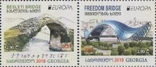 GEORGIA 2018 EUROPA CEPT BRIDGES .SET 2 ST MNH
