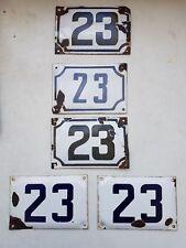 vintage ISRAELI enamel porcelain number 23 house sign # 23 PICK 1 FROM LOT