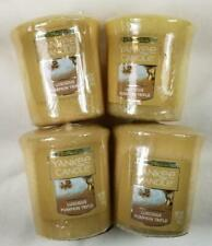 Yankee Candle Votives: LUSCIOUS PUMPKIN TRIFLE Wax Melts Lot of 4 Brown Wax New