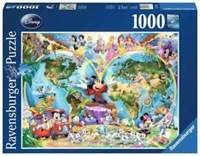 Puzzle 1000pz - Mappamondo Disney (157853)