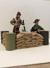 GI Joe Firebase Ryan 1/6th Mortar Pit Set With Sandbags Mint New Dragon