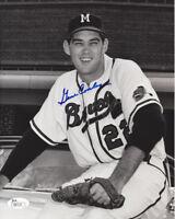 BRAVES Gene Conley signed 8x10 photo JSA COA AUTO Autographed Milwaukee