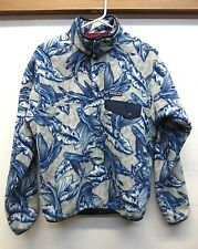 EUC Patagonia 25580 LW Synchilla Snap T P/O Fleece Pullover Blue Flying Fish XS