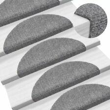 vidaXL 15x Self-adhesive Stair Mats Needle Punch 54x16x4cm Light Grey Rugs