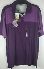 Nwt Under Armour Mens Charged Purple Polo Golf Shirt Heat Gear Regular Fit Xl
