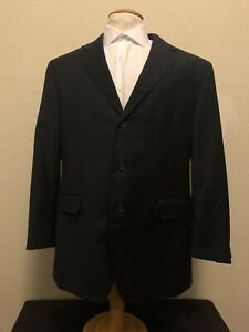 BACHRACH Men's Suit Jacket Blue Italian Striped Size 44R Perfect Condition