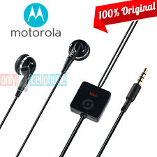 Original Motorola Headset Hands-free Stereo In-Ear Black for Motorola Moto G X E