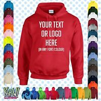 Custom Personalised Men's Printed HOODIE Name Funny Work Stag Do-Your text/logo1