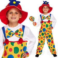 Boys Clown Fancy Dress Costume Circus Carnival HB Childs Outfit Kids Boy Medium / Age 7 8 9