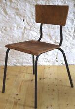 1 von 3 Industrie Stuhl Stapelstuhl Vintage Loft Fabrik Mid century Schichtholz