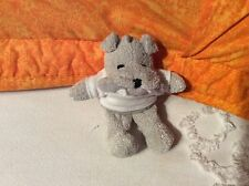 "It's All Greek to Me Tiny Plush GRAY BULLDOG WITH WHITE T-SHIRT 5"" TALL"
