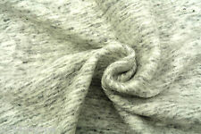 C160 LUXURIOUS CHUNKY COOKED WOOLBLEND FELTED KNIT NATURAL LIGHT GREY MELANGE