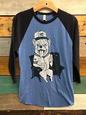 american apparel 50/50 shirt KC Baseball Dog Size Small Navy And Blue Baseball T