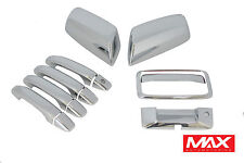 106TDM - 14-18 Chevy Silverado Chrome Door + Tailgate + Mirror Covers Combo Pack