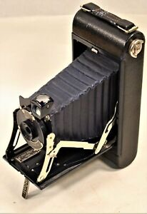 Vintage No. 1A Pocket Kodak Junior 1929 Dark Blue Folding Camera