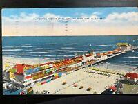 Vintage Postcard>1947>World Famous Steel Pier>Atlantic City>New Jersey