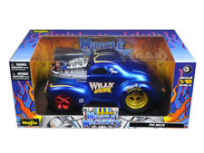 """1941 WILLYS COUPE BLUE """"MUSCLE MACHINES"""" 1/18 DIECAST MODEL CAR BY MAISTO 32202"""