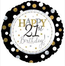 "Happy 21st Birthday 18"" Balloon Birthday Party Decorations"