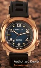 NEW BOREALIS NAVALE BRONZE Fumed Blue Dial Fixed Bezel DIVER 300M Watch WARRANTY