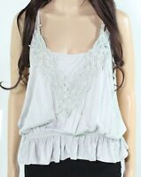 Mystree Womens Tank Top Green Size Large L Lace-Trim Double-Strap $44 690