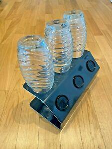 SodaNature | 3er Edelstahl Abtropfhalter in Anthrazit für SodaStream - Timeless