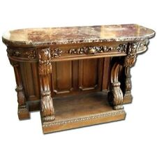 Victorian Console Table with Marble Top #6984