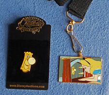 Disney Auctions LE 500 ALICE IN WONDERLAND Lanyard & Talking Doorknob Pin *NEW