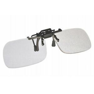 +1.0 Clip On & Flip Up Small Clear Magnifying Reading Glasses