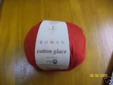 ROWAN COTTON GLACE knitting yarn 741 poppy