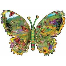 MONARCH MEADOW Alixandra Mullins 1000 pc SunsOut SHAPED Puzzle BUTTERFLY - NEW