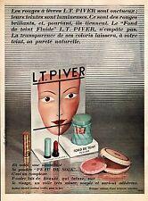 PUBLICITE L.T PIVER COSMETIQUES COSMETICS AD 1955 RARE