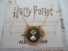 Alex and Ani Harry Potter TIME TURNER SPINNER NECKLACE Gold New W/Tag Card & Box