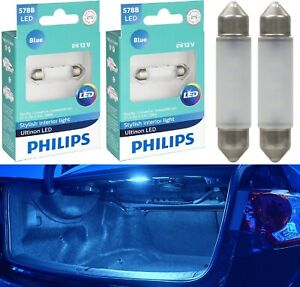 Philips Ultinon LED Light 578 Blue 10000K Two Bulbs Trunk Cargo Replace Stock OE