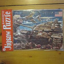 vintage 50s Childrens Japan Usaf War Scene TanK Jigsaw Puzzle Mint Nos 5 and 10