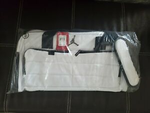 Jordan All World White Duffel Gym Bag