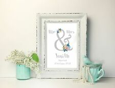 Personalised Wedding -Engagement Print -  Mr and Mrs - wedding gift -A4 Print
