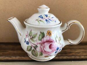 Sadler miniature teapot with roses