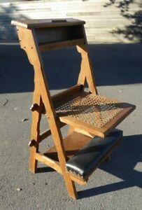 antique arts crafts art deco praying chair era serrurier bovy paul hankar style