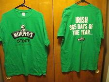 MURPHY'S STOUT  ~ NEW - LRG - IRISH 365 Days of the YEAR ~  Beer T Shirt St Pats