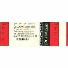 AUDIOSLAVE & JANES ADDICTION Concert Ticket Stub COLUMBUS 7/13/03 LOLLAPALOOZA