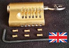 YALE CUTAWAY 6 PIN **RE-PINNABLE **EURO PRACTICE LOCK with extra pins Made in UK
