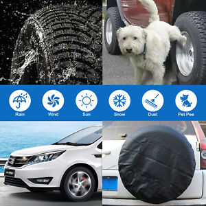 """27""""-29"""" Wheel Tire Covers Sun Protector For Truck Car RV Trailer SUV Waterproof"""