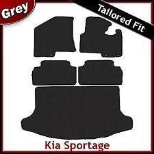 Kia Sportage Mk3 2010-2015 Fully Tailored Carpet Car Floor & Boot Mats GREY