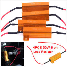 4X 50W 6OHM TURN SIGNAL LOAD RESISTORS + 8X WIRE CONNECTORS PREVENTS HYPERFLASH