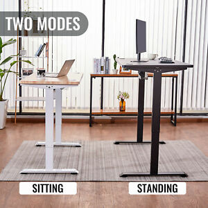 140cm/120cm Height Adjustable Electric Standing PC Desk Home Office Study Table