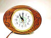 Seth Thomas Oakdale Table Alarm Clock Vintage Wood Model number SS12-AS electric