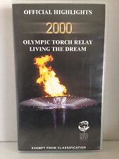 OFFICIAL HIGHLIGHTS ~2000 OLYMPIC TORCH RELAY~ LIVING THE DREAM~AS NEW VHS VIDEO
