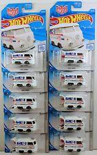 Hot Wheels 2019 136/250 Volkswagen 2/10 KOOL KOMBI White Magnus Walker Lot of 10